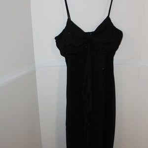 Black glitter cocktail dress